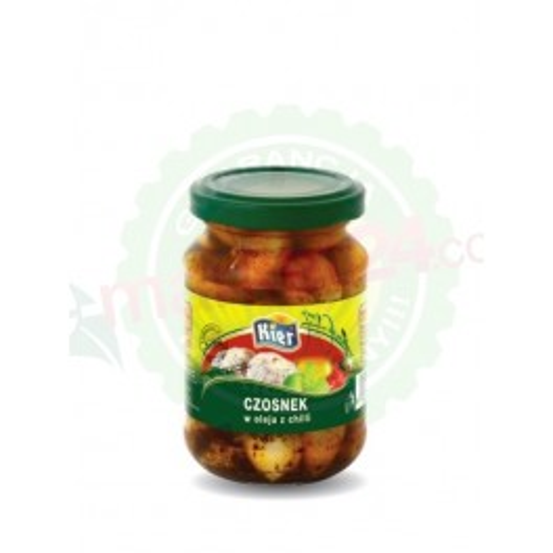Czosnek w oleju z chilli 190g