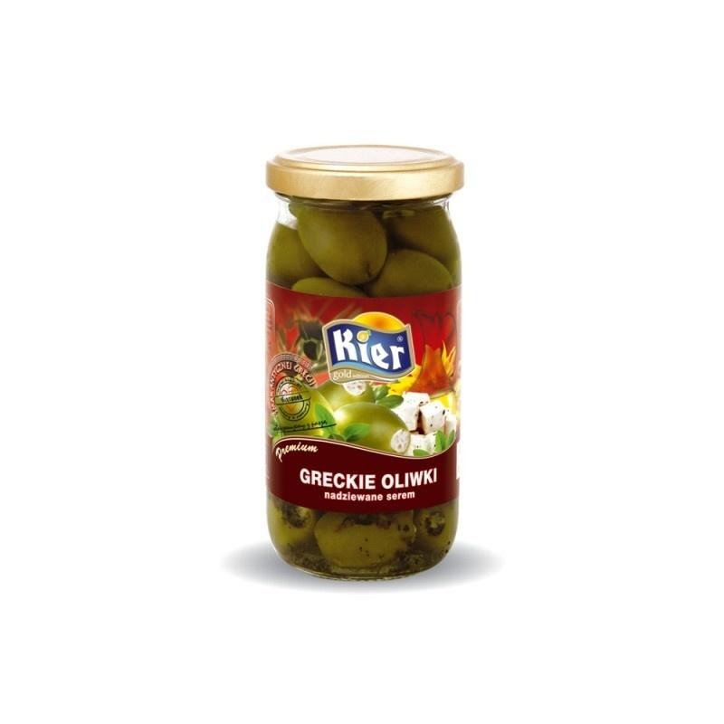 Greckie oliwki nadziewane serem 370ml