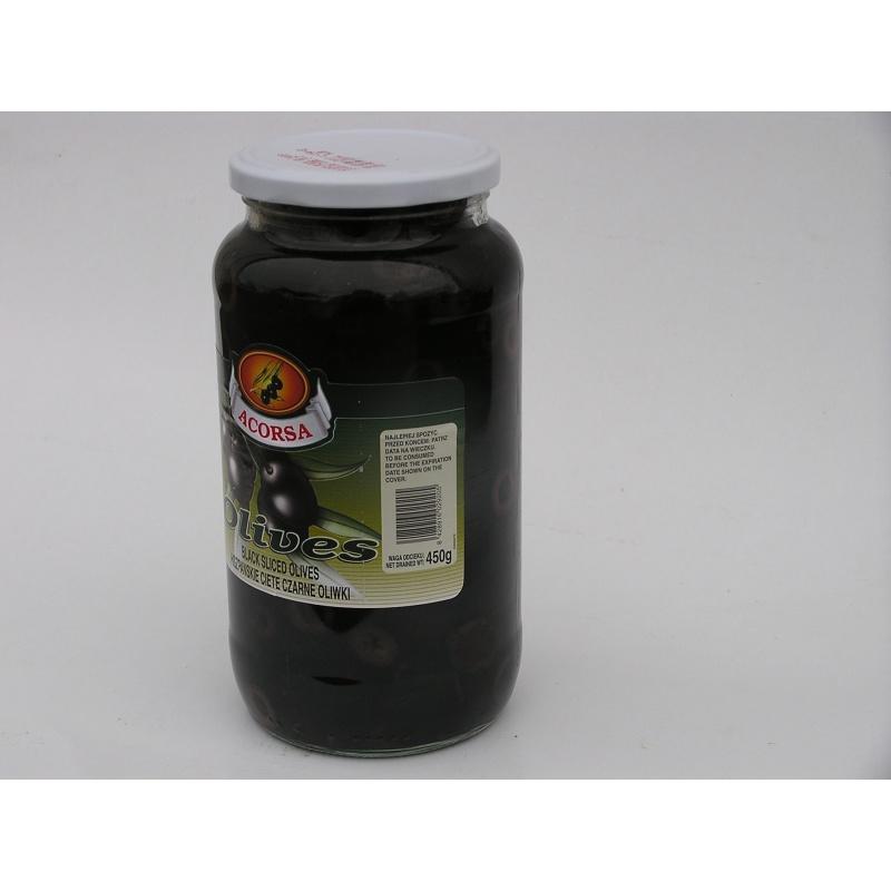 Oliwki czarne cięte 950g