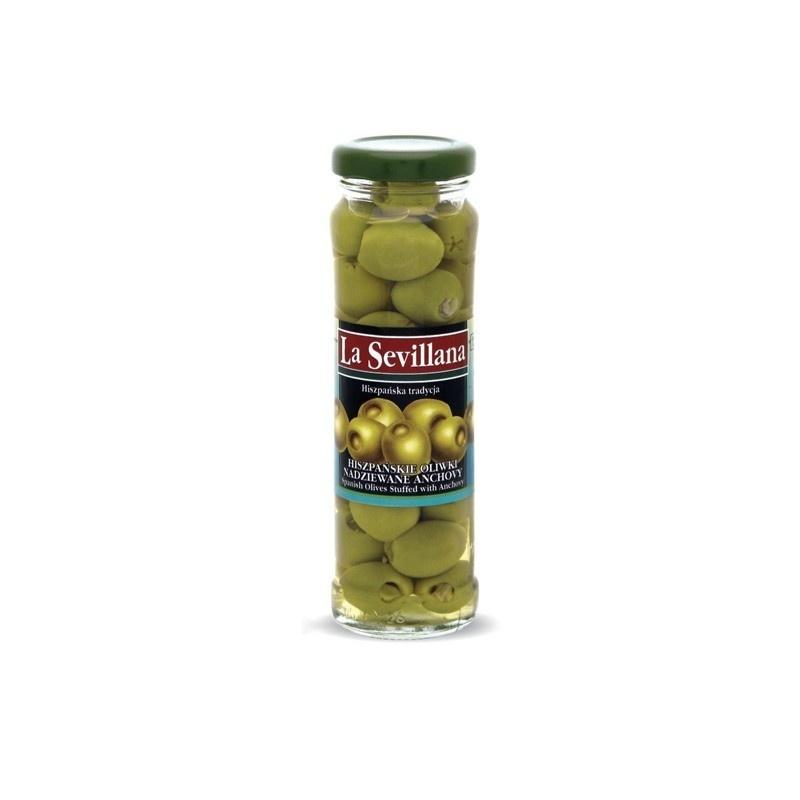 Hiszpańskie oliwki nadziewane anchovy 156ml