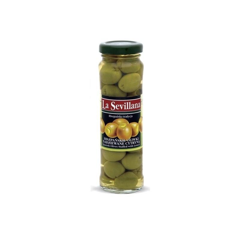 Hiszpńskie oliwki nadziewane cytryną 156ml