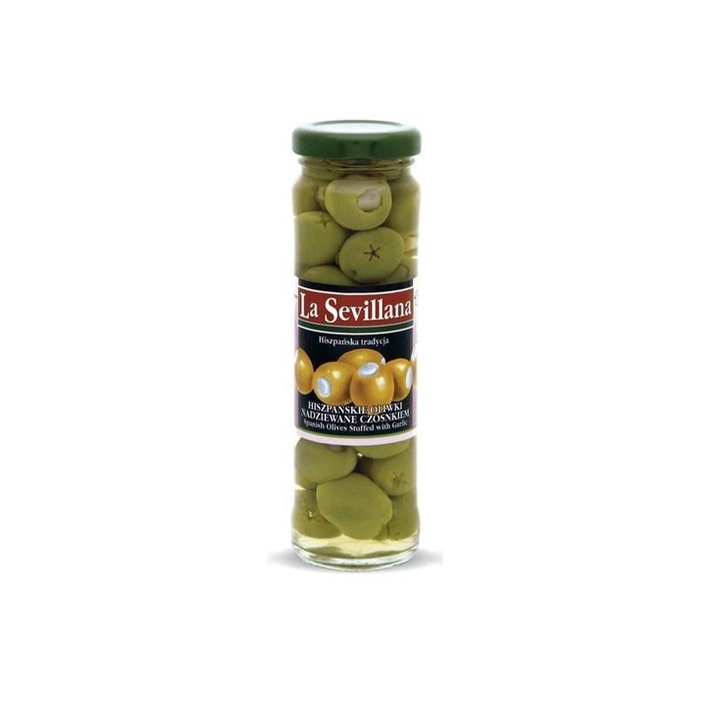 Hiszpańskie oliwki nadziewane czosnkiem 156ml