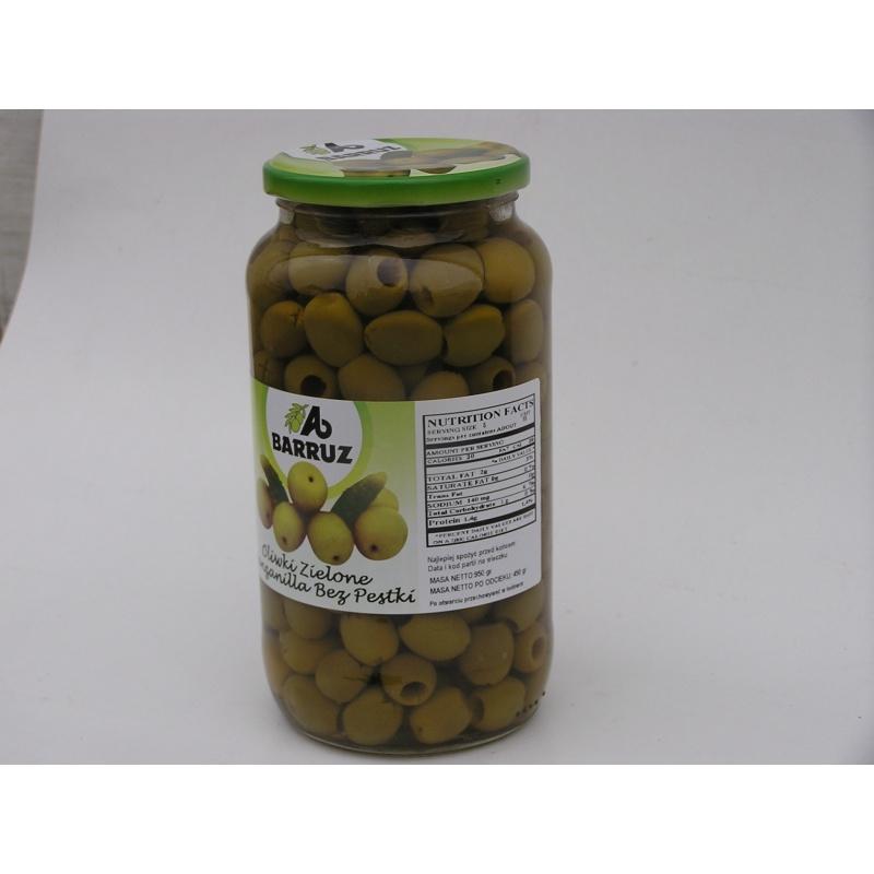 Hiszpańskie oliwki zielone drylowane 950g
