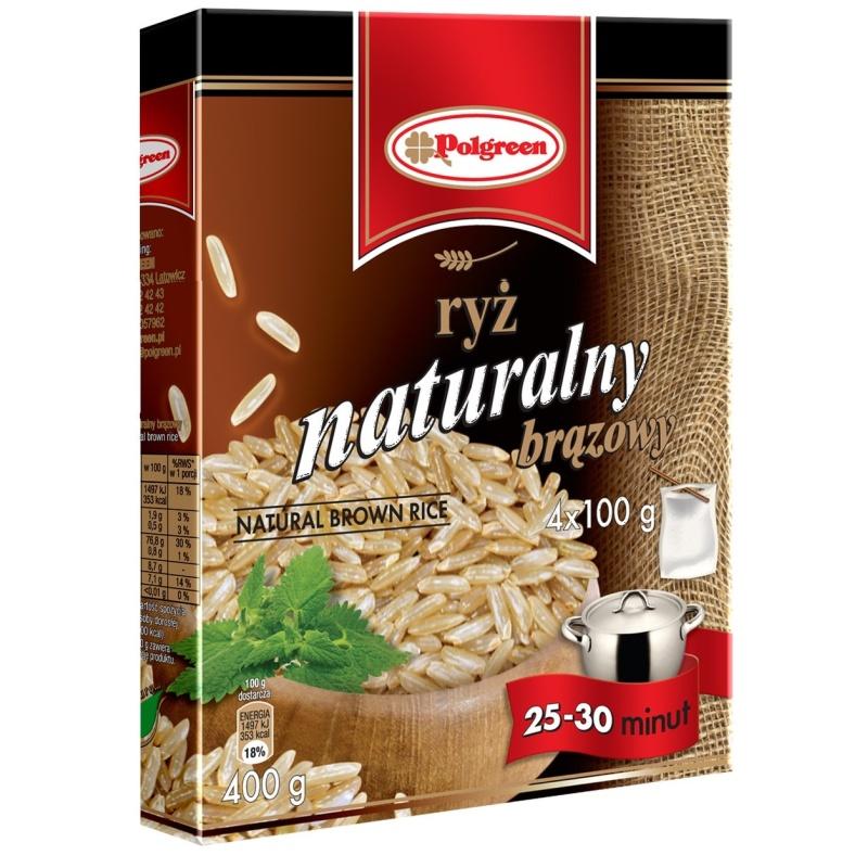 Ryż naturalny brązowy 4x 100g