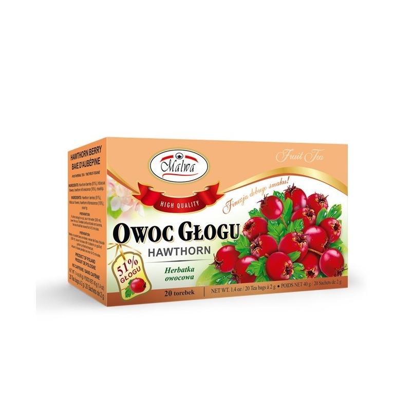 Herbata owoc głogu ekpresowa 20t